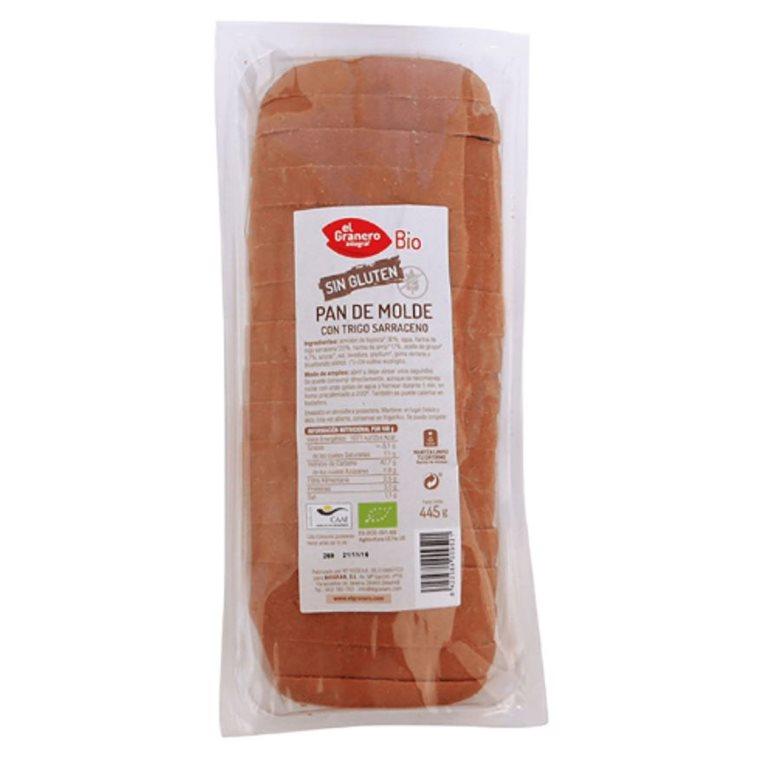 Pan de Molde con Trigo Sarraceno Sin Gluten Bio 445g