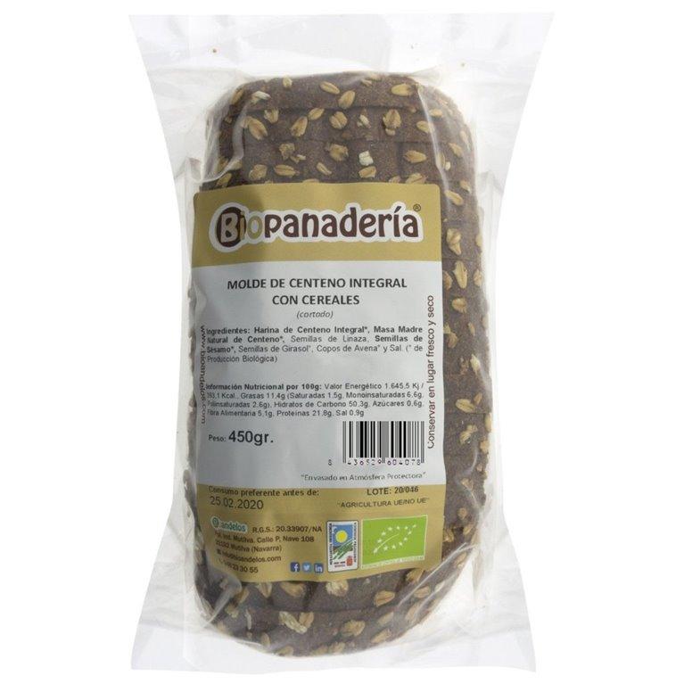 Pan de Molde de Centeno Integral con Cereales y Masa Madre Natural, 1 ud