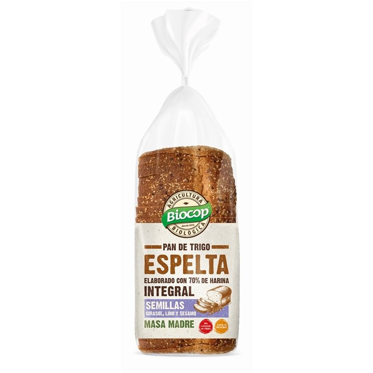 Pan de Molde de Espelta Integral con Semillas Bio 400g