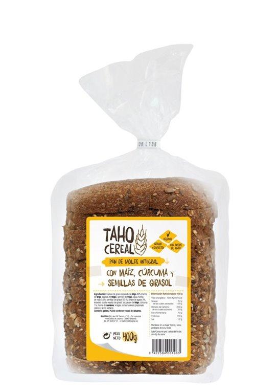 Pan de Molde Integral con Maíz, Cúrcuma y Semillas de Girasol 400g, 1 ud