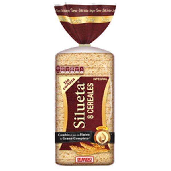 Silueta - Pan de molde integral sin corteza (8 cereales, grano completo)
