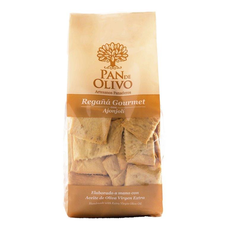 Olive Bread - Regañá - EVOO and Sesame 10 bags 200g