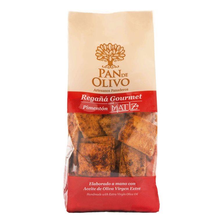 Olive Bread - Regañá - EVOO and Paprika 1 bag 200g