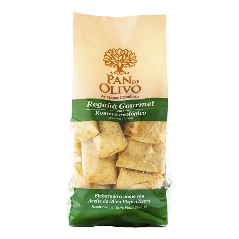 Olive Bread - Regañá - EVOO and Rosemary Organic 10 bags of 200g