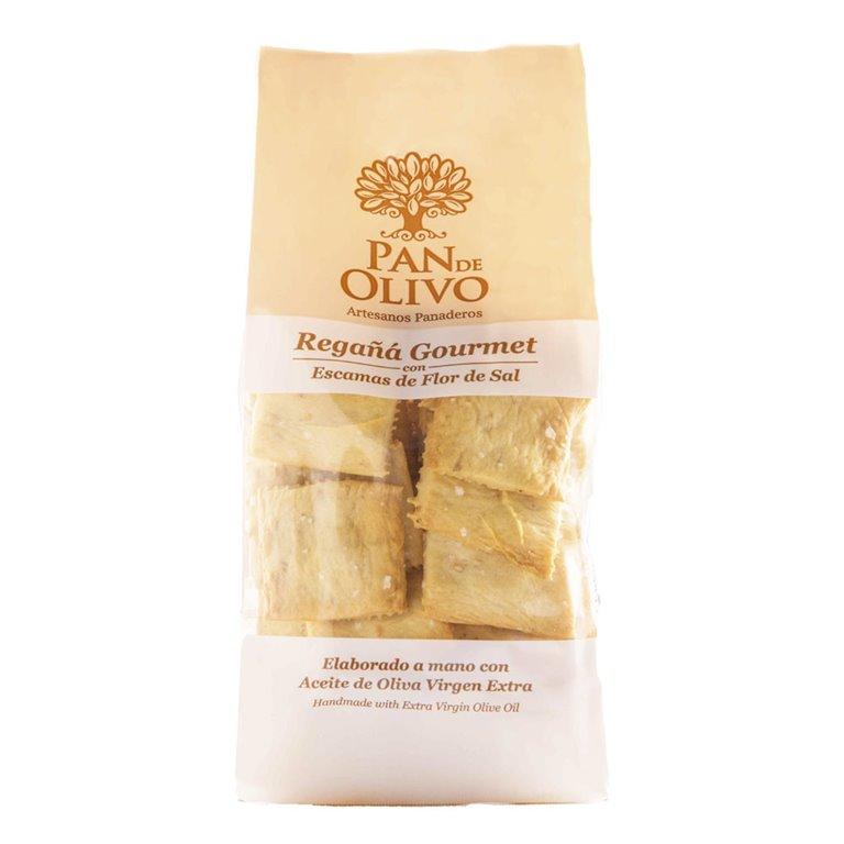 Olive Bread - Regañá - EVOO and Salt Virgen del Manantial 10 bags 200g