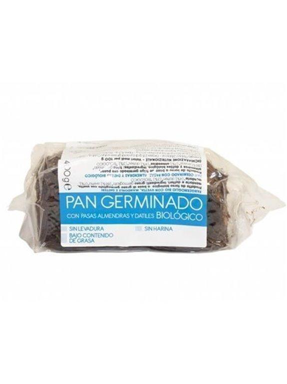 Pan germinado con pasas, almendras y dátiles, 400 gr