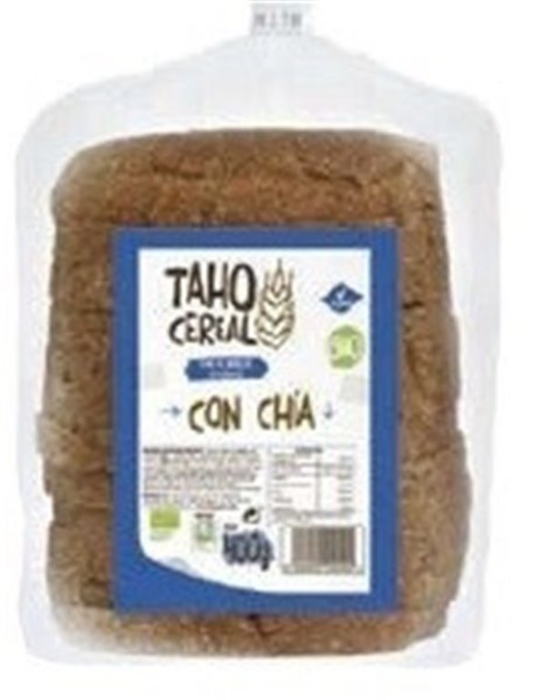 Pan integral cereales y chía, 400 gr