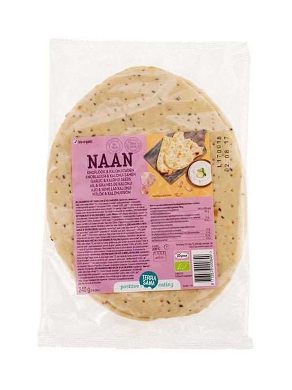 Pan Naan Hindu Con Ajo Y Semillas Kalonji Vegano, 1 ud