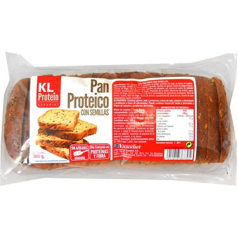 Pan Proteico con Semillas KL Protein 365g