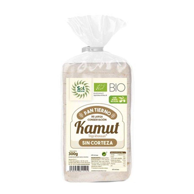 Pan tierno kamut sin corteza, 300 gr