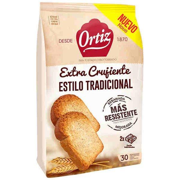 Ortiz - Pan tostado extra crujiente (30 rebanadas)