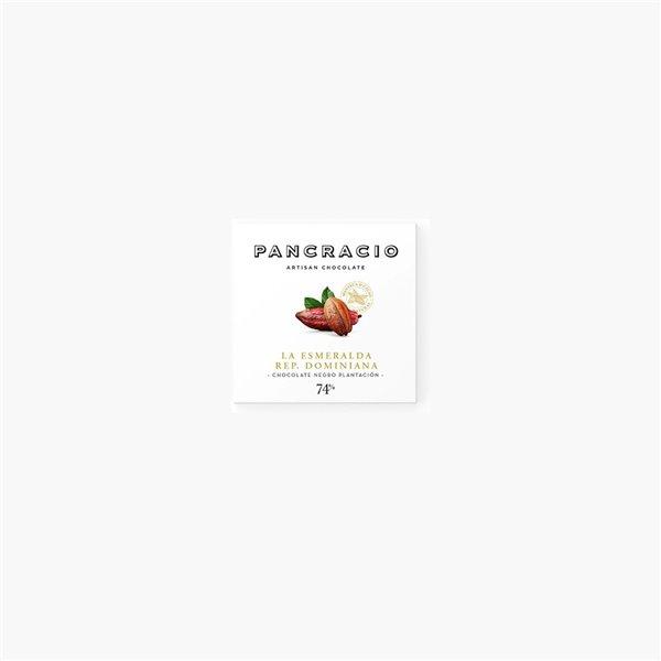Pancracio, Tableta Chocolate Negro 'La Esmeralda' R. Dominicana 45g