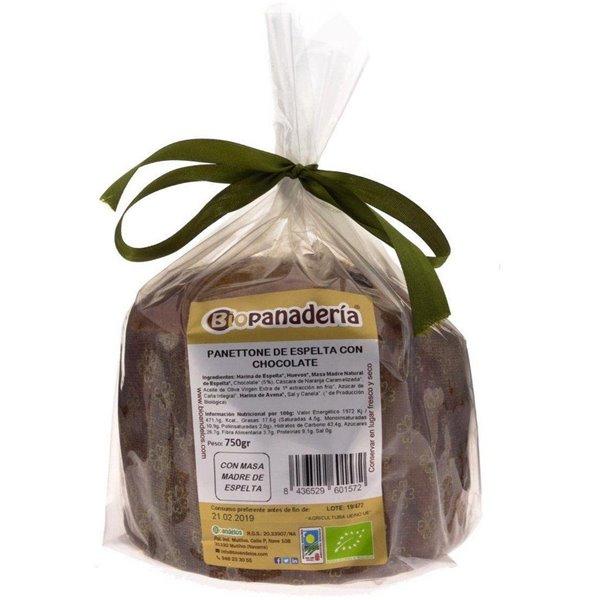 Panettone de Espelta con Chocolate Ecológico 750g de Elaboración Artesanal