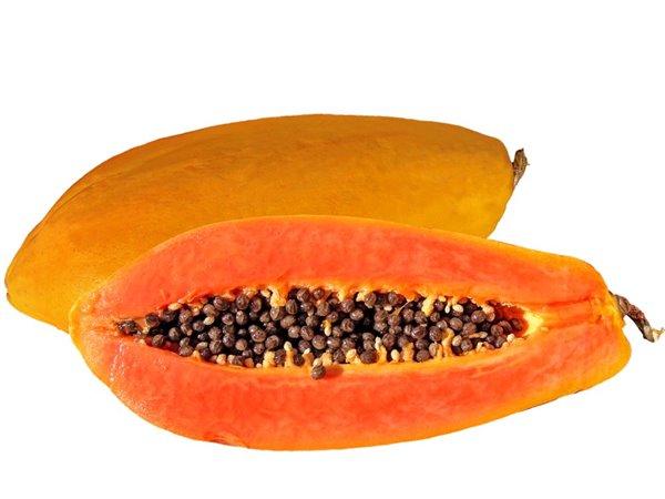 Papaya, una mitad