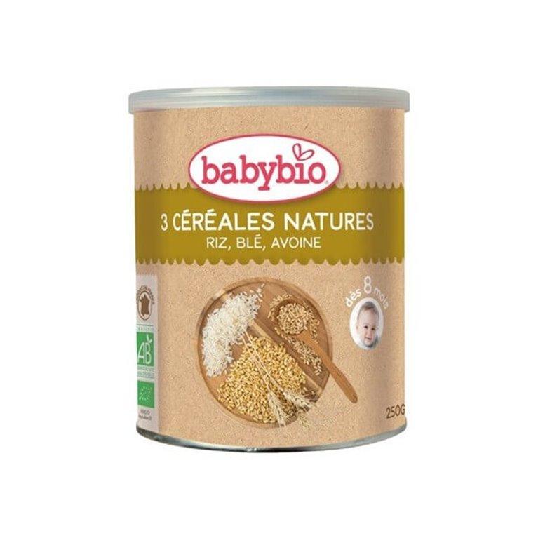 Papilla de tres cereales naturales, 250 gr