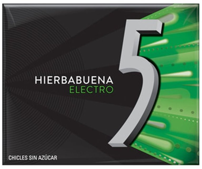 Paquete chicles Five hierbabuena (12 chicles, sin azúcar), 1 ud