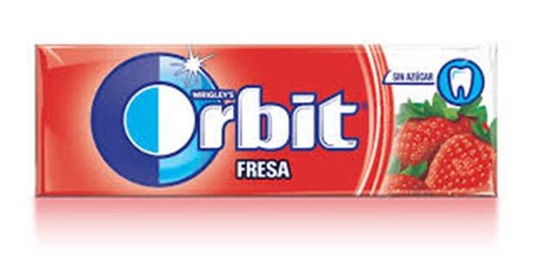 Paquete Orbit Fresa (sin azúcar, 14 gramos)