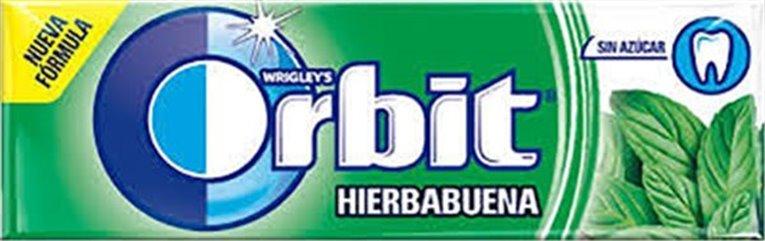 Paquete Orbit Hierbabuena (sin azúcar, 14 gramos)