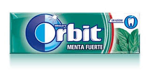 Paquete Orbit Menta Fuerte (sin azúcar, 14 gramos)