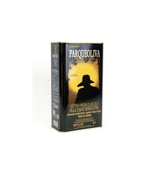 Parqueoliva. Serie Oro. Caja de 4 latas de 3 litros.