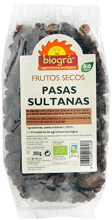 Pasas Sultanas Bio 250g, 1 ud