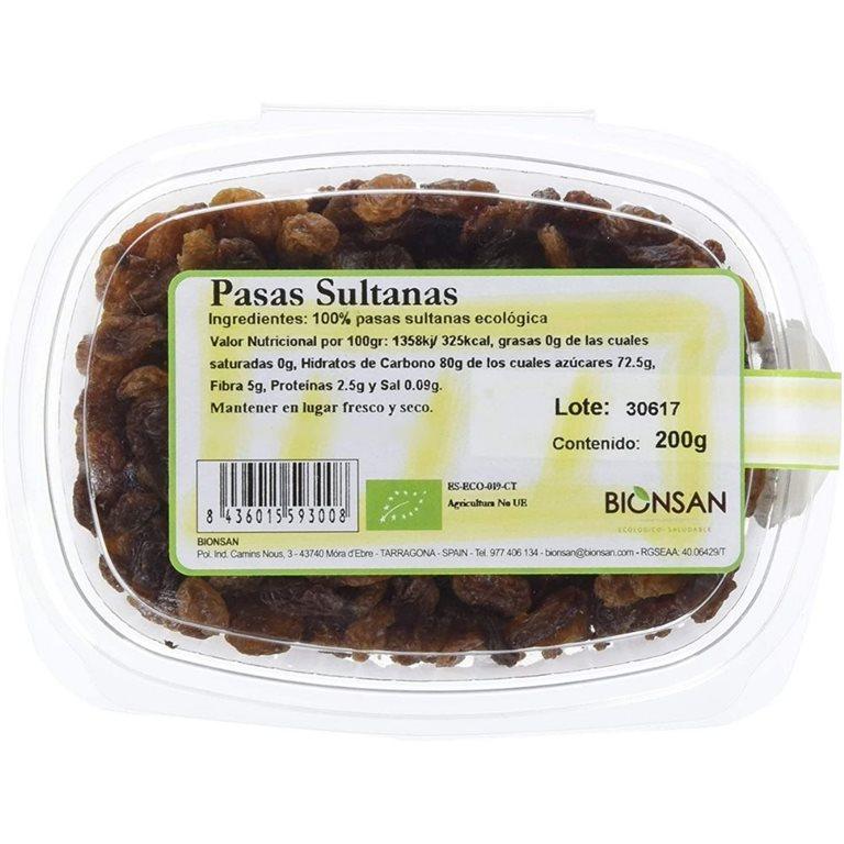 Organic sultanas -200gr