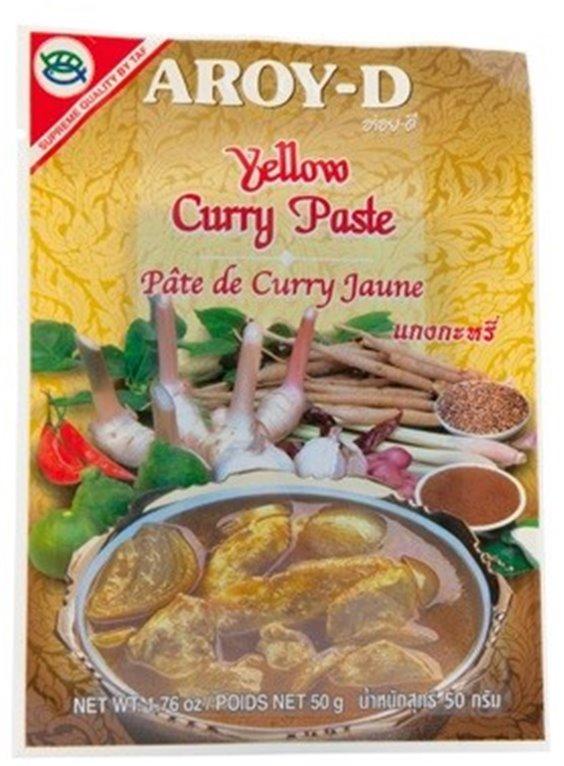 Pasta de Curry Amarillo Thai 50g, 1 ud