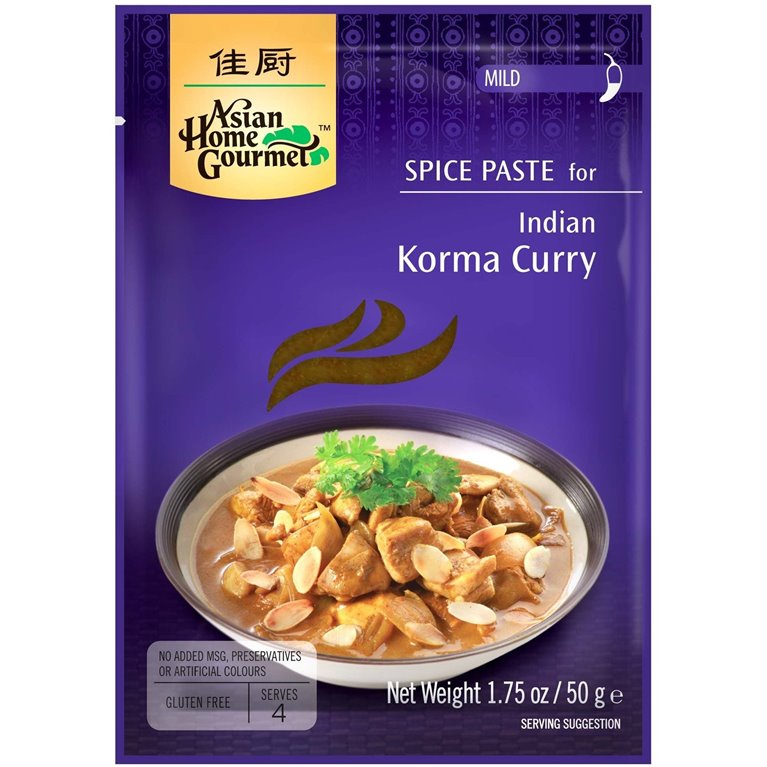 Pasta de Especias para Curry Indio Korma 50g, 1 ud