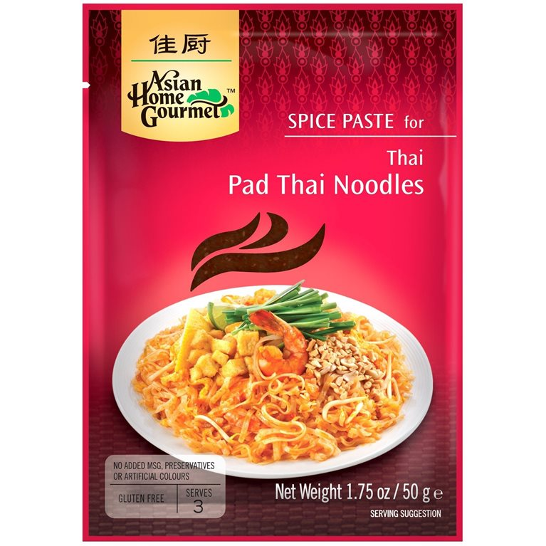 Pasta de Especias para Curry Tailandés de Noodles Pad Thai 50g, 1 ud
