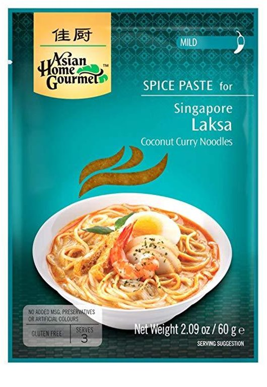Pasta de Especias para Curry Singapurense de Noodles de Coco Laksa 60g