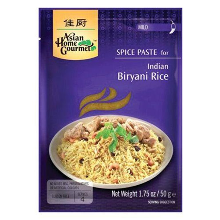 Pasta de Especias para Curry Indio de Arroz Biryani 50g