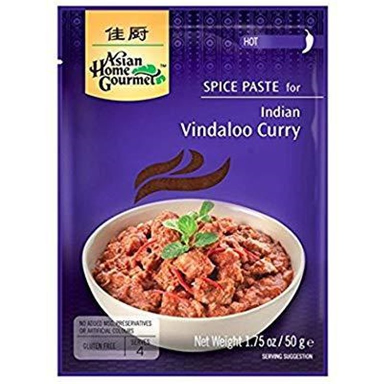 Pasta de Especias para Curry Indio Vindaloo 50g, 1 ud
