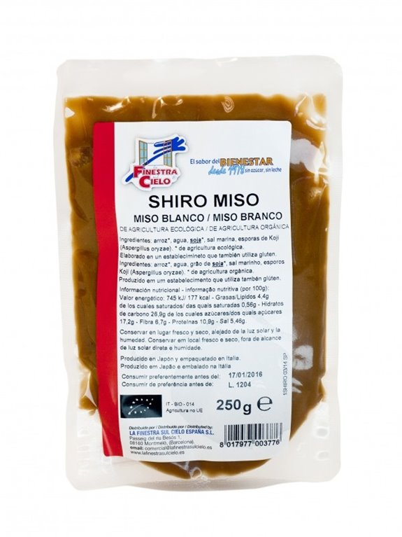 Shiro Miso (Pasta de Miso Blanco) Bio 250g, 1 ud