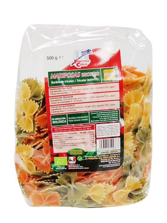 Pasta Mariposas Tricolor, 500 gr