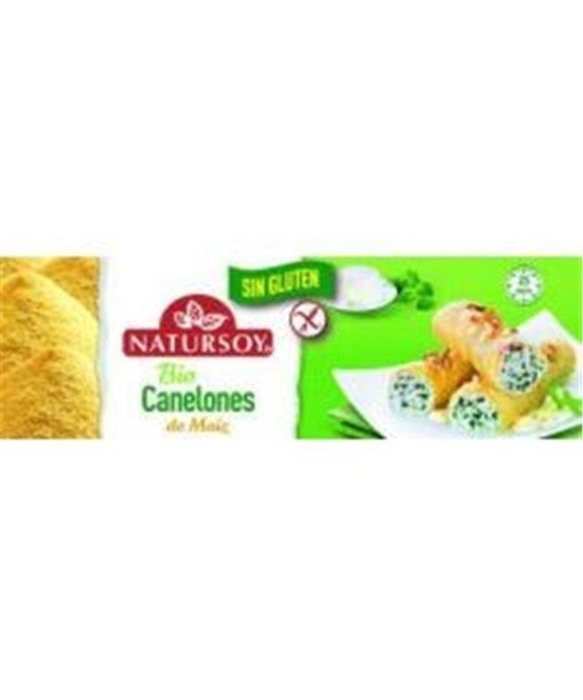 Pasta precocida de canelones de maíz sin gluten 250g, Natursoy