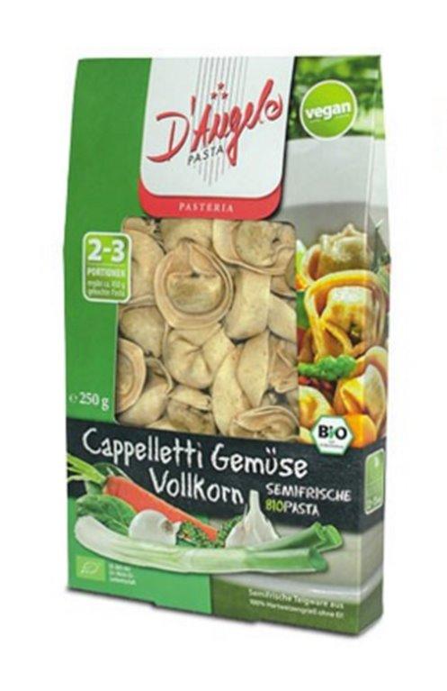Pasta semifresca integral con verduras, 250 gr
