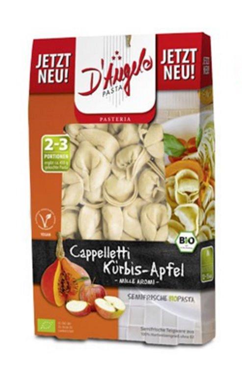 Pasta semifresca rellena calabaza y manzana, 250 gr