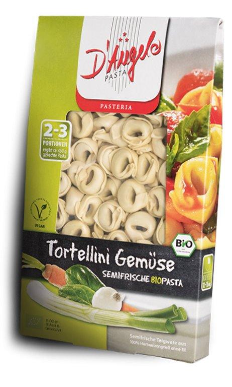 Pasta semifresca tortellini de verduras, 250 gr