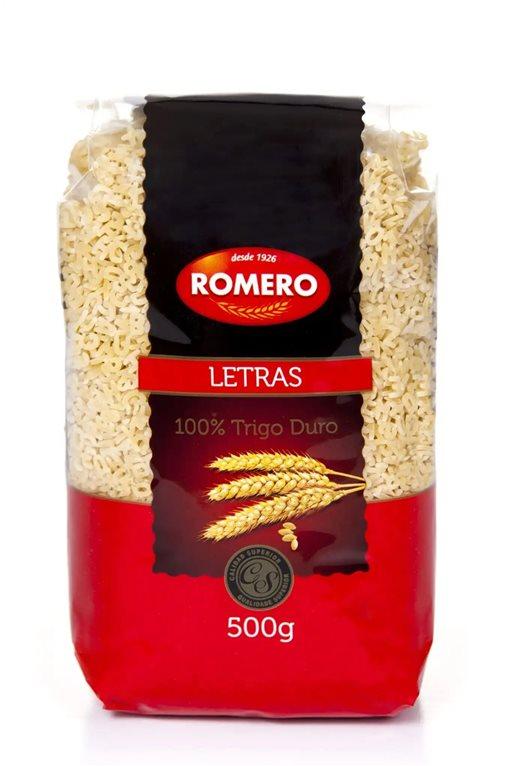 Pastas Romero Letras 500g.