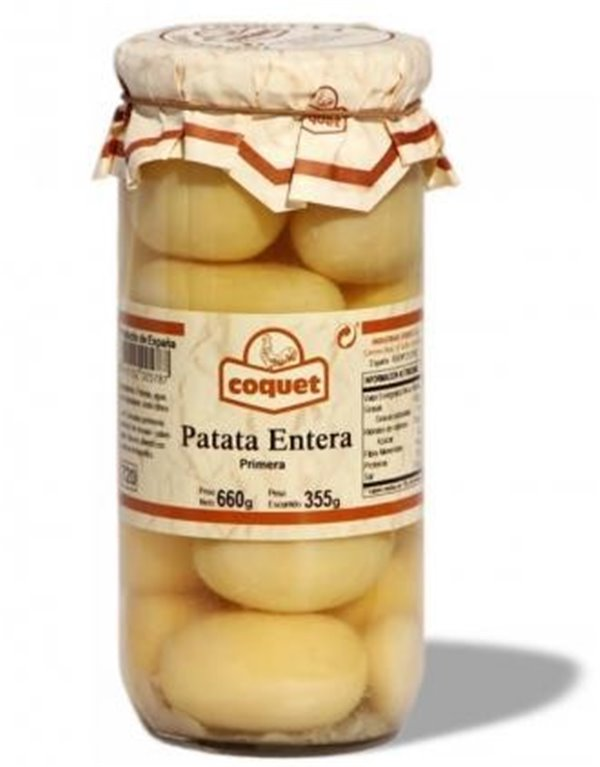 Patata pelada entera Coquet