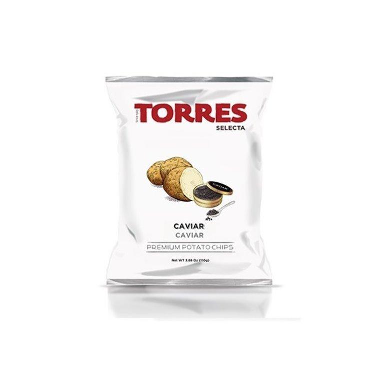 Patatas Fritas al Caviar Torres Selecta 110 gr., 1 ud