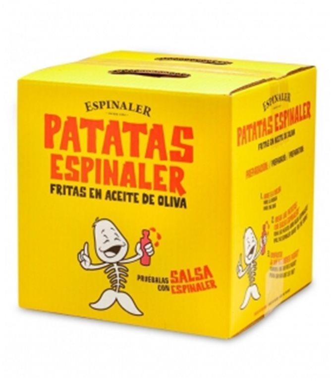 Patatas fritas (caja) 700gr. Espinaler. 1un.