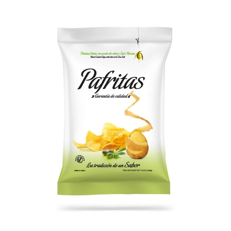 Chips with sea salt