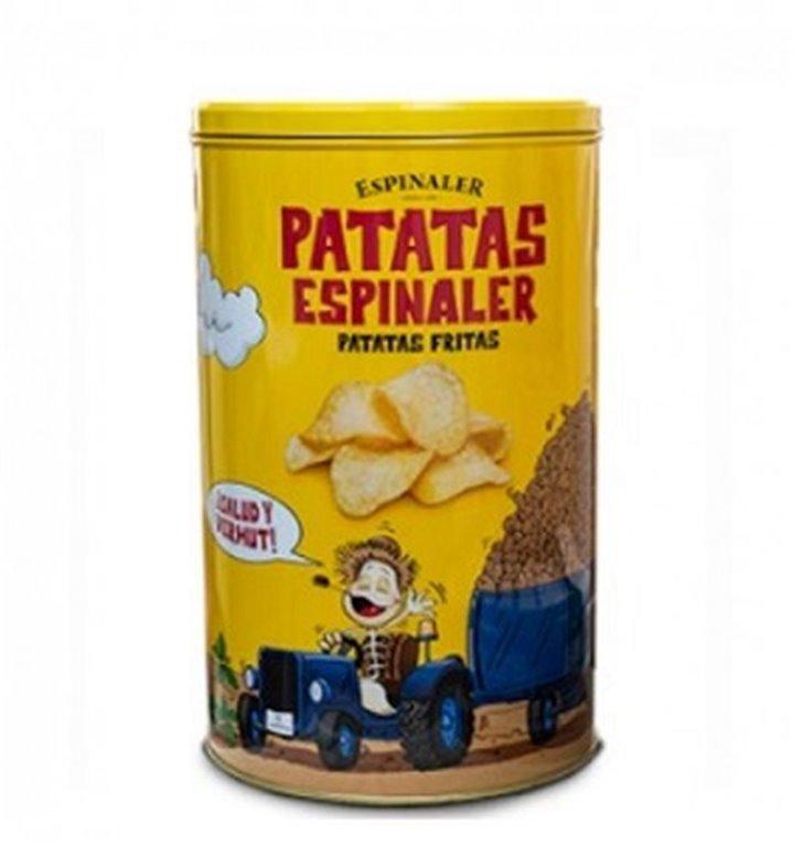 Patatas Fritas en Aceite de Oliva Espinaler Lata Metálica 450 gr.