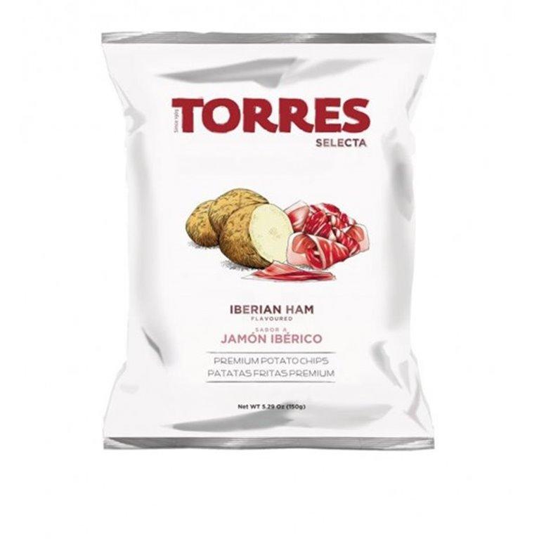 Patatas Fritas Jamón Ibérico Torres 150 gr., 1 ud