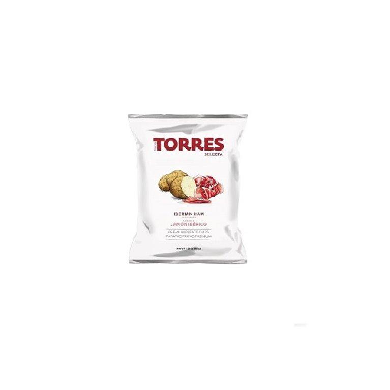 Patatas Fritas Jamón Ibérico Torres 50 gr., 1 ud
