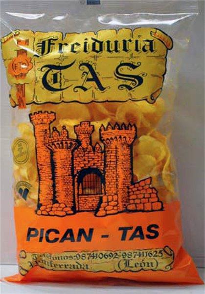 Patatas fritas Pican-TAS. 10 Bolsas de 180 gr
