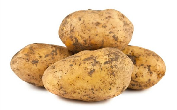 Patatas nuevas sin lavar
