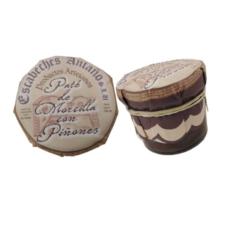 Paté artesano de morcilla con piñones 100g - Patés Gourmet