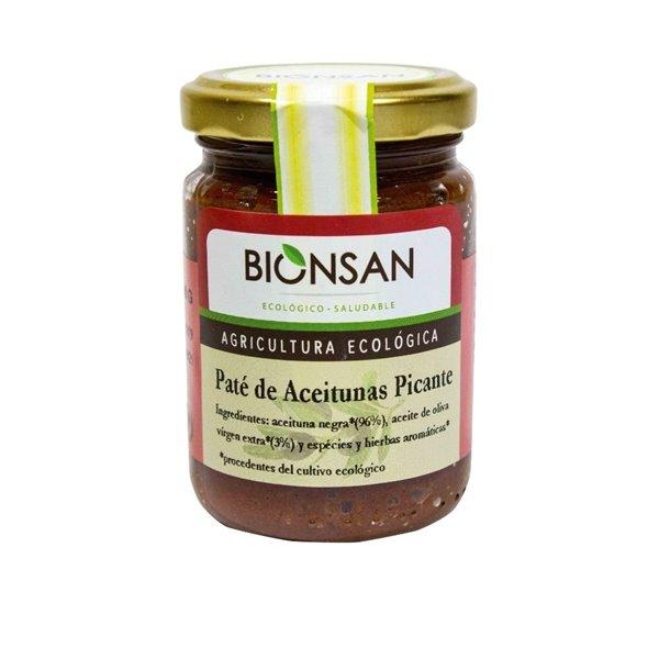 Paté de aceitunas negras picante ecológico -140gr
